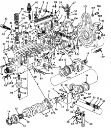 Ford 3000 simms pump parts