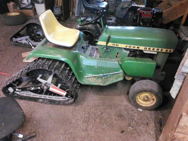 Garden Tractor Track Drive Kit : Atv utv tracks on wd tractor honda rt