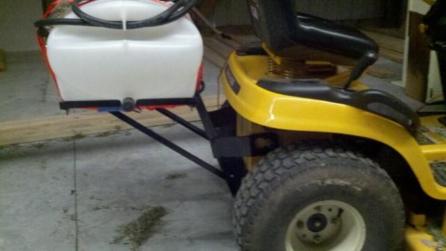 Yard Tractor Sprayer Rack Project Mytractorforum Com