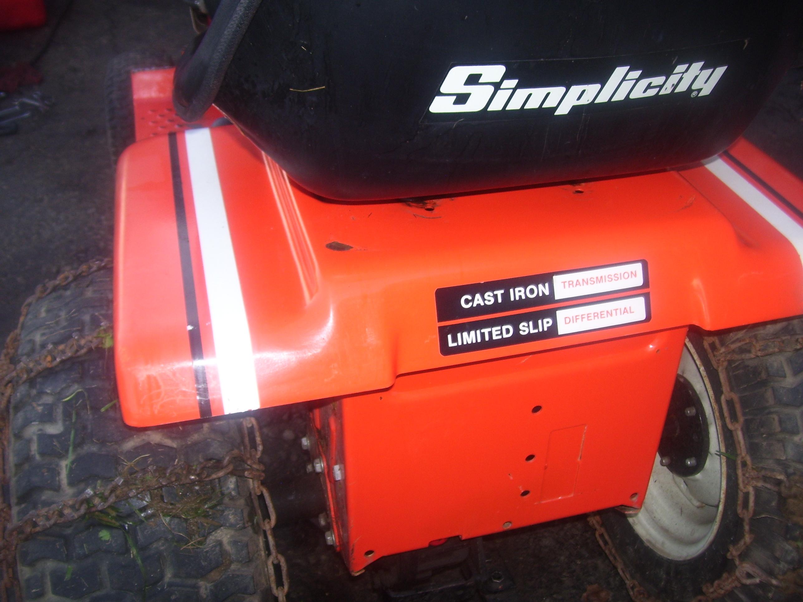 Simplicity Multi-Purpose Hydraulic/Trans Oil substitution
