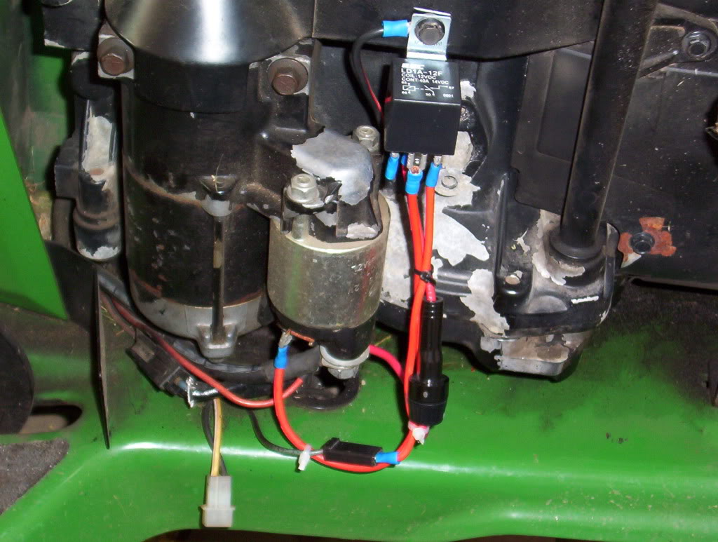 Starter Assist Relay Assembly And Install The Help With Wiring To Solenoid Mytractorforumcom Friendliest Report This Image