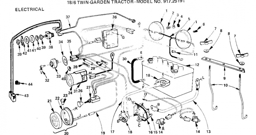 sears garden tractor wiring diagram wiring diagram and schematic lawn mower wire lawnmowers snowers
