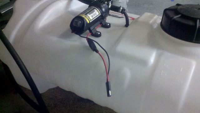 yard tractor sprayer rack project