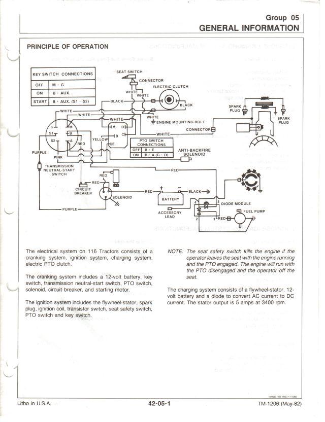 Jd C116l Electrical Diagram Mytractorforum Com The Friendliest