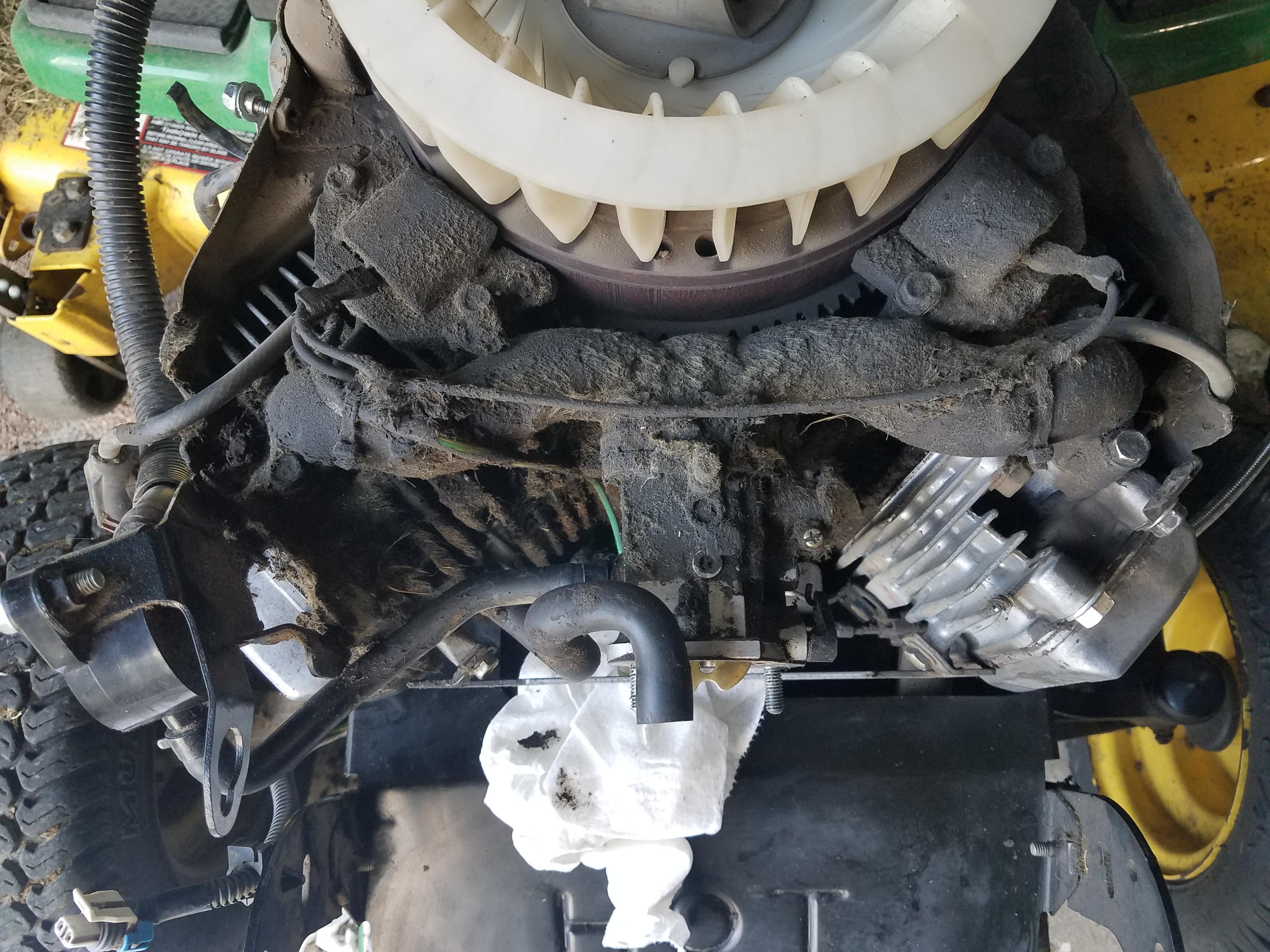 John Deere gt235 18hp Kawasaki leaking oil - MyTractorForum