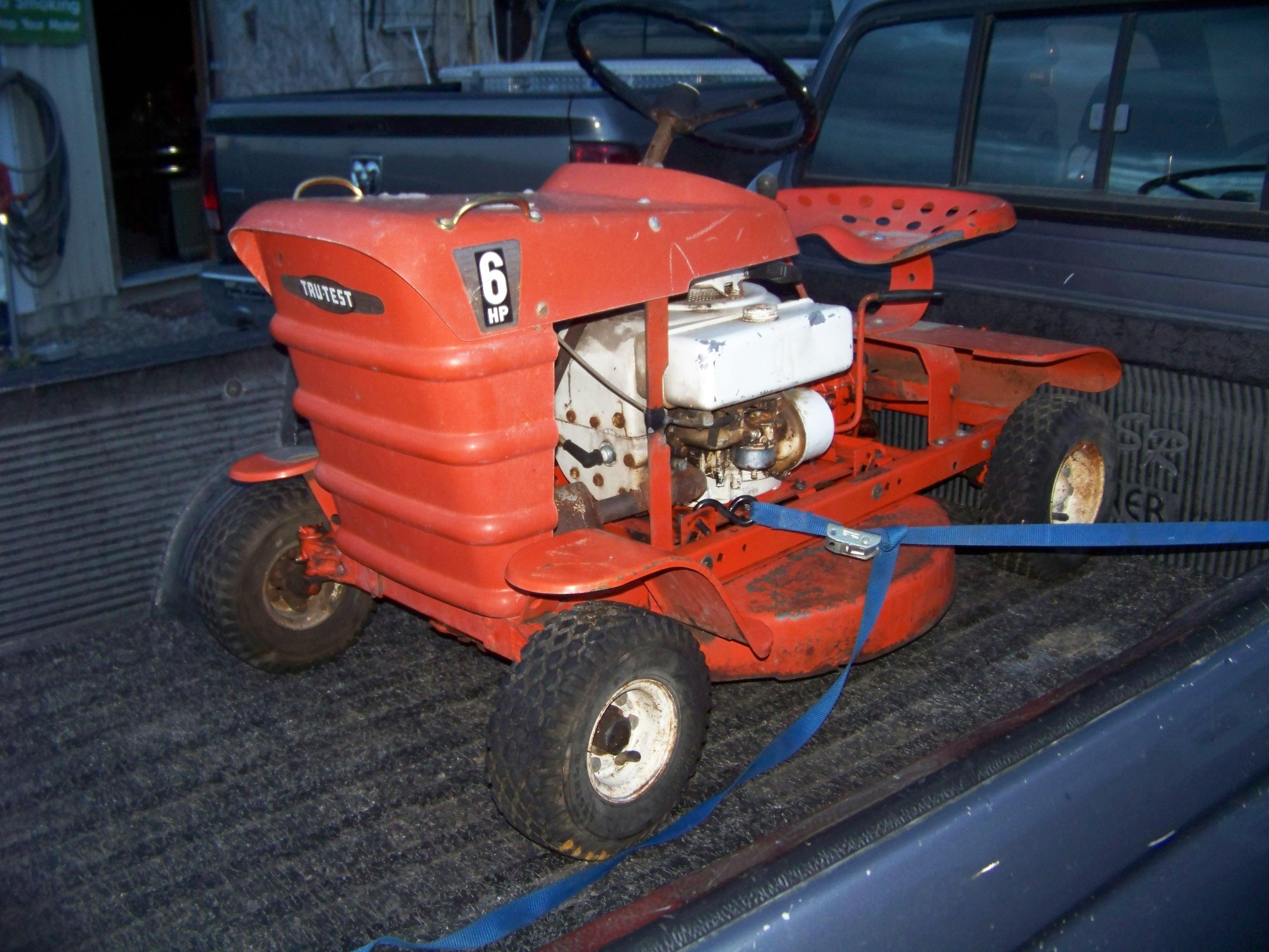 For Sale Rare 1960 S Tru Test Rugg Riding Mower Nice Id
