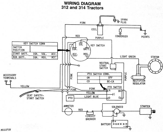 314 not charging - MyTractorForum.com - The Friendliest ... Jd Wiring Diagram on