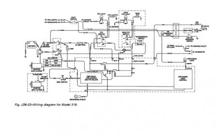 John Deere 316 w Onan P218G Engine MyTractorForum The – John Deere 316 Garden Tractor Wiring Diagram