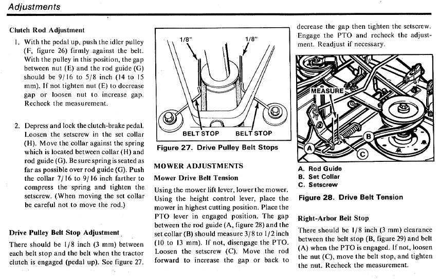 Simplicity 4211 Belt Carb Issues Mytractorforum The