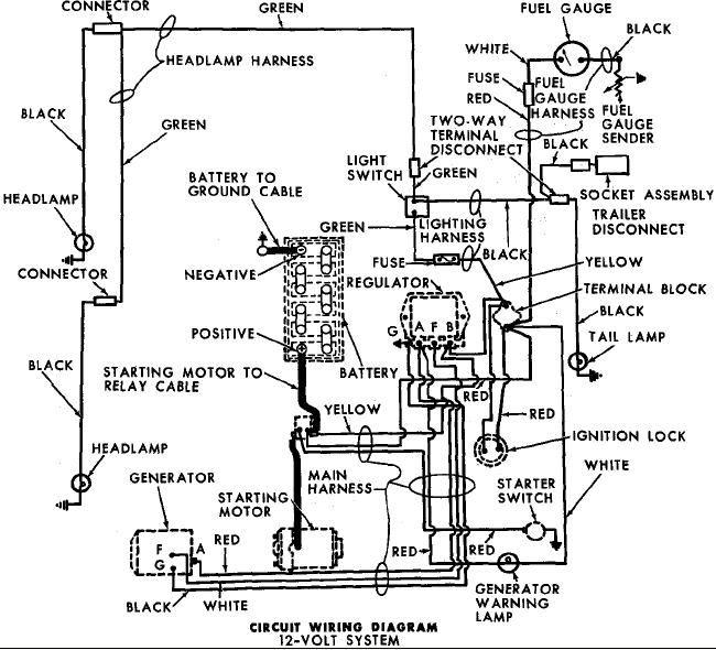 Ford 4000 Diesel Tractor Wiring Diagram ~ 196? ford 4000 industrial