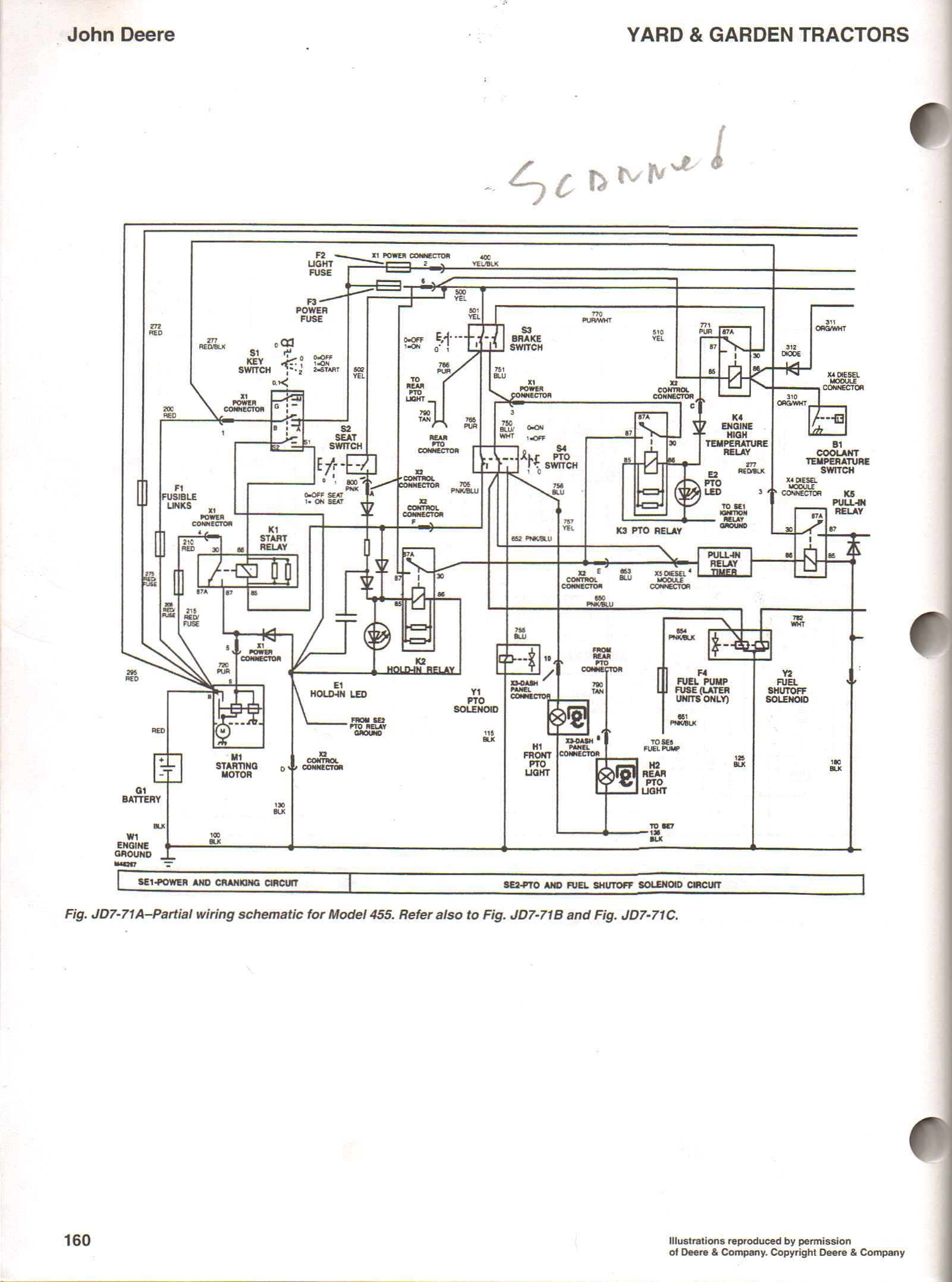 No PTO on my 455 | My Tractor Forum John Deere Wiring Diagram on