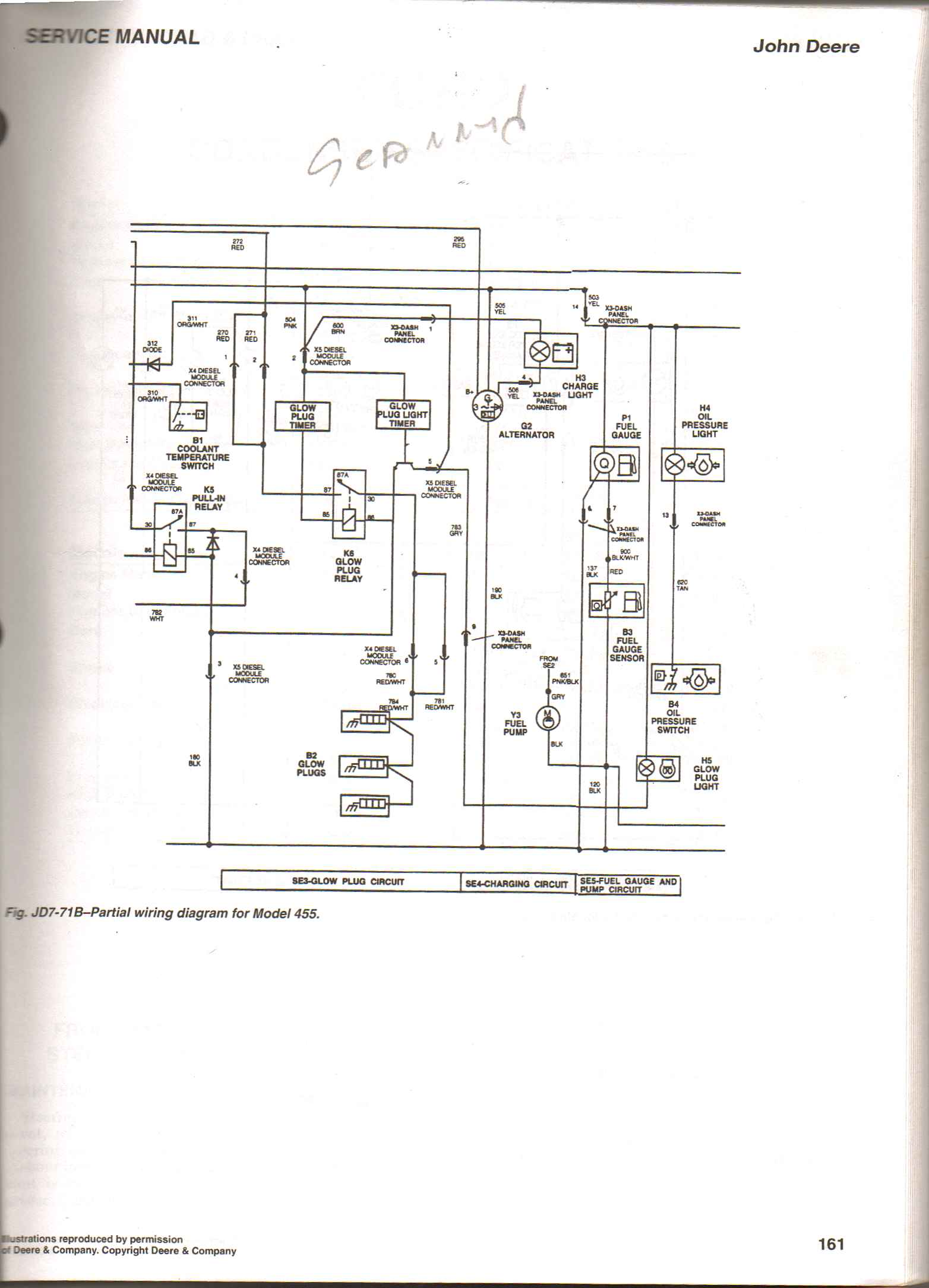 John Deere 445 Wiring Harness Diagram