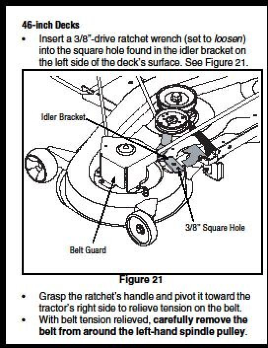 cub cadet lt1045 deck diagram 2140 cub cadet mower deck diagram