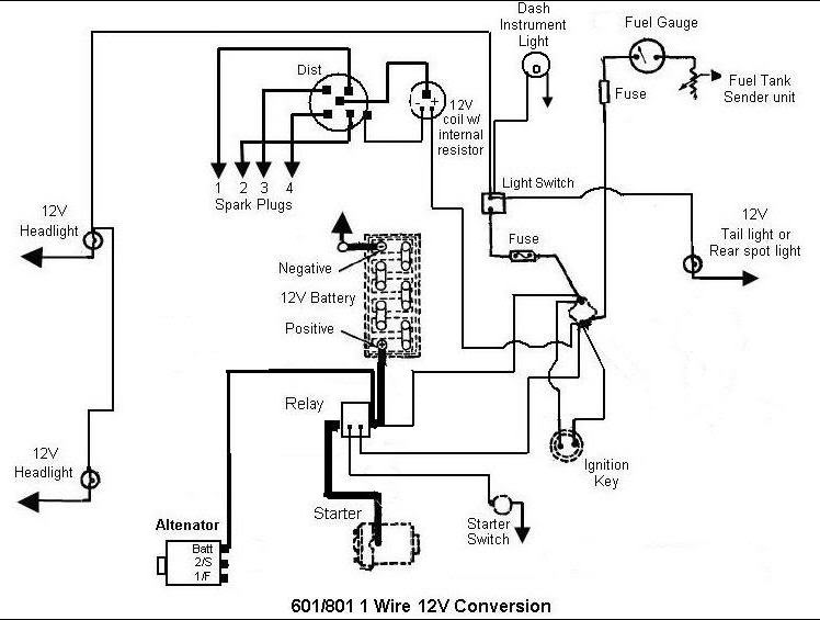 12V Conversion Problem - MyTractorForum.com - The Friendliest ... on ford naa wiring-diagram, 601 ford tractor diagrams, ford tractor wiring diagrams,