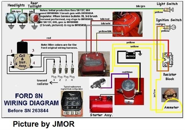 headlight wiring diagram ford 8n 9n 2n 8n wire diagrams my tractor forum  9n 2n 8n wire diagrams my tractor forum