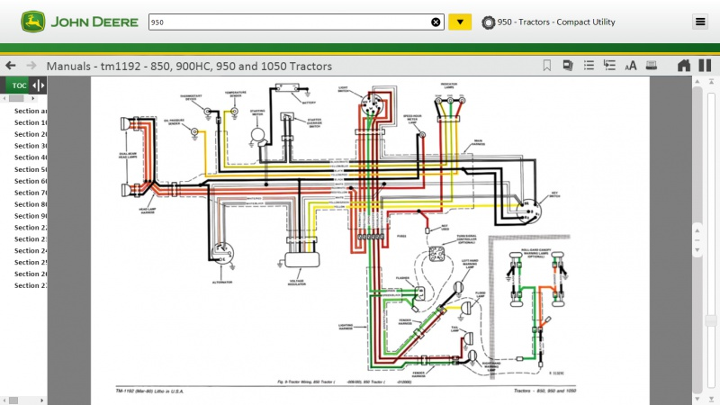John Deere 950 Wiring And Fuses Mytractorforum The