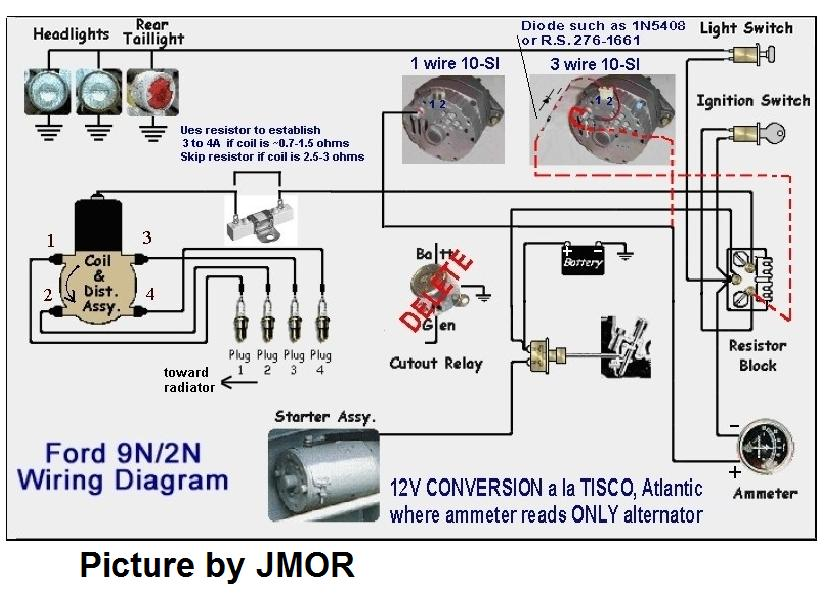 9N2N8N Wire Diagrams MyTractorForum The Friendliest – Kubota Alternator Wiring Schematic