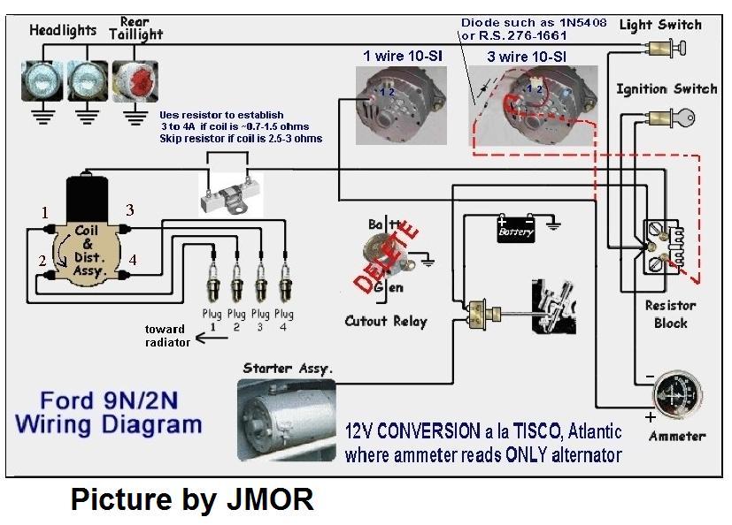 ford 8n 12 volt conversion wiring diagram ford ford 9n 6v wiring diagram ford auto wiring diagram schematic on ford 8n 12 volt conversion