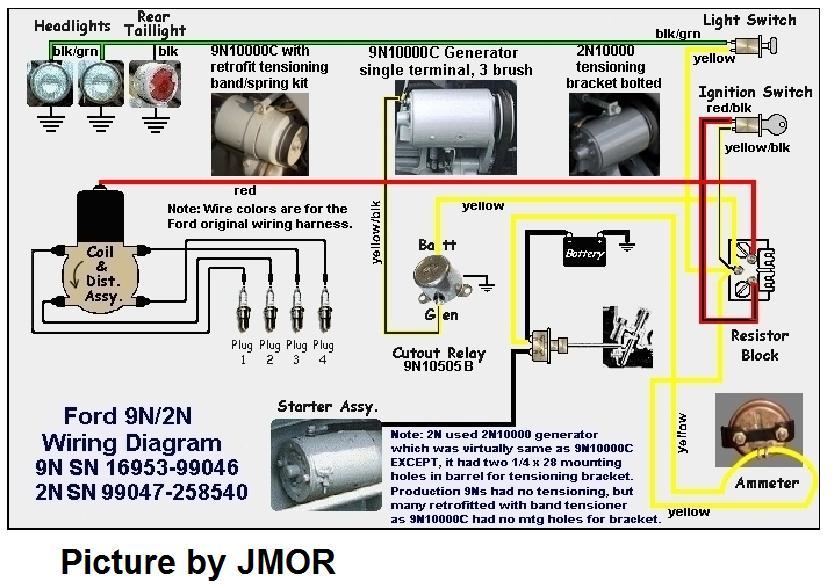 9n/2n/8n wire diagrams - mytractorforum - the friendliest, Wiring diagram
