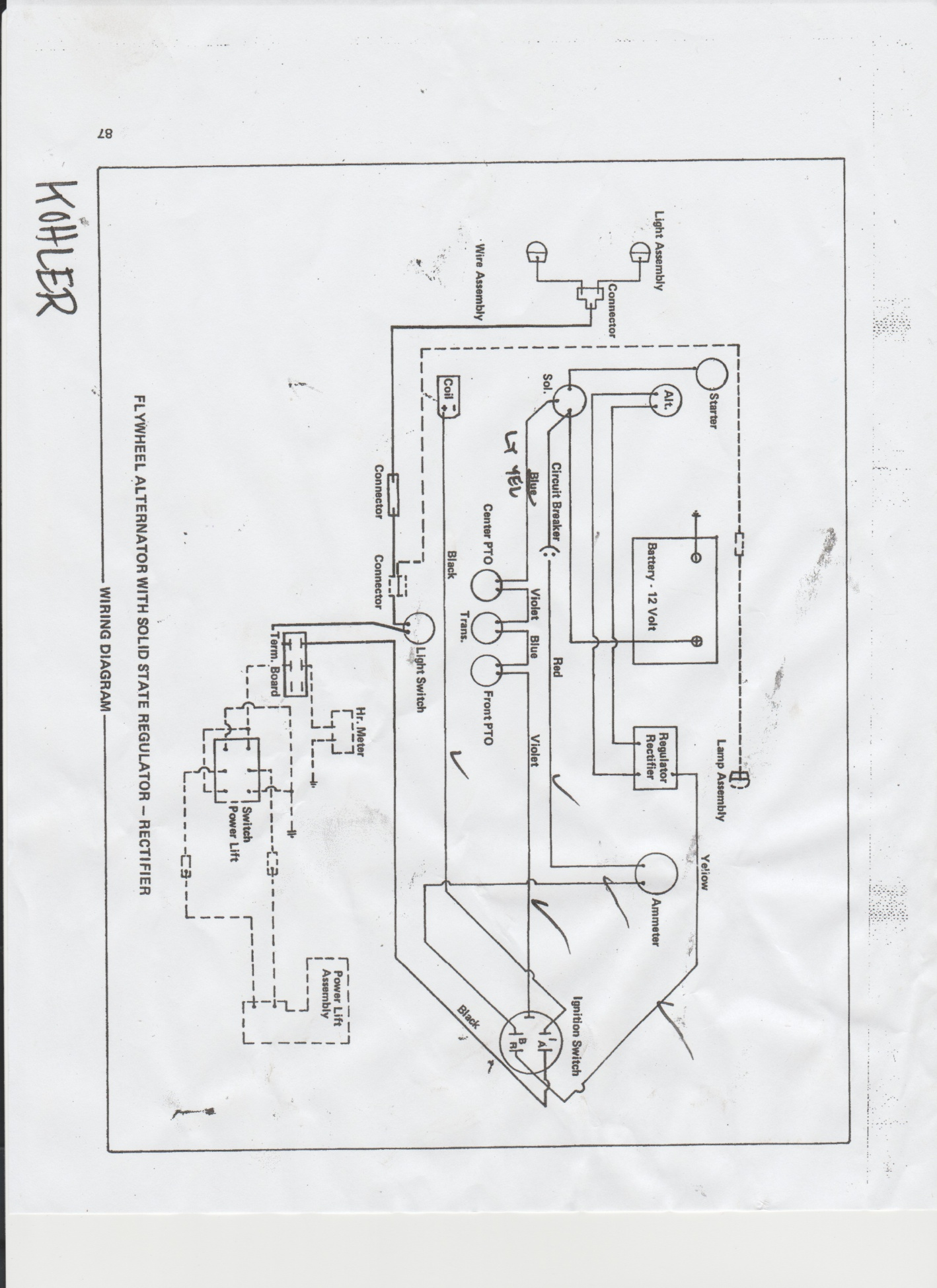 Wiring diagram for Allis 710 (simplicity 7010) - MyTractorForum.com on