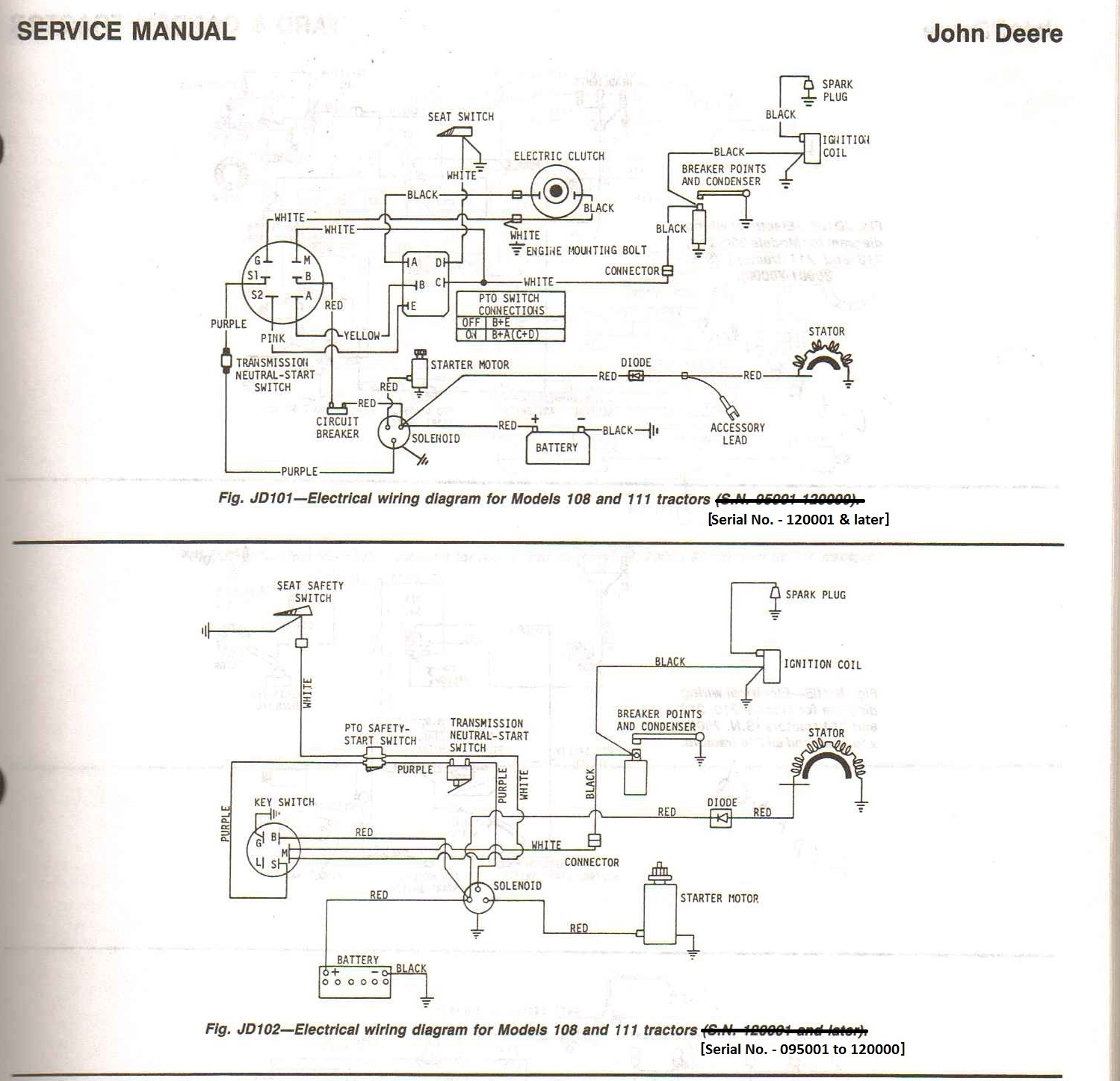 John Deere 116 Wiring Diagram from www.mytractorforum.com