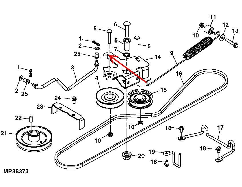 Belt Tension Extension Spring for John Deere X320