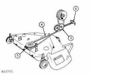 John Deere 216 Primary Mower Drive Belt Popping off