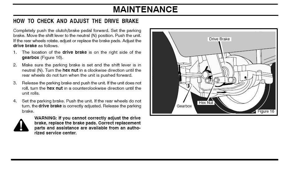 Murray brake/clutch adjustment? - MyTractorForum com - The