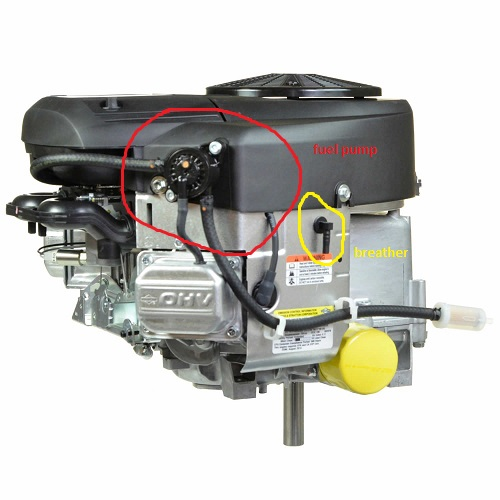 Where can I tap for vacuum source on 24 HP B&S platinum V