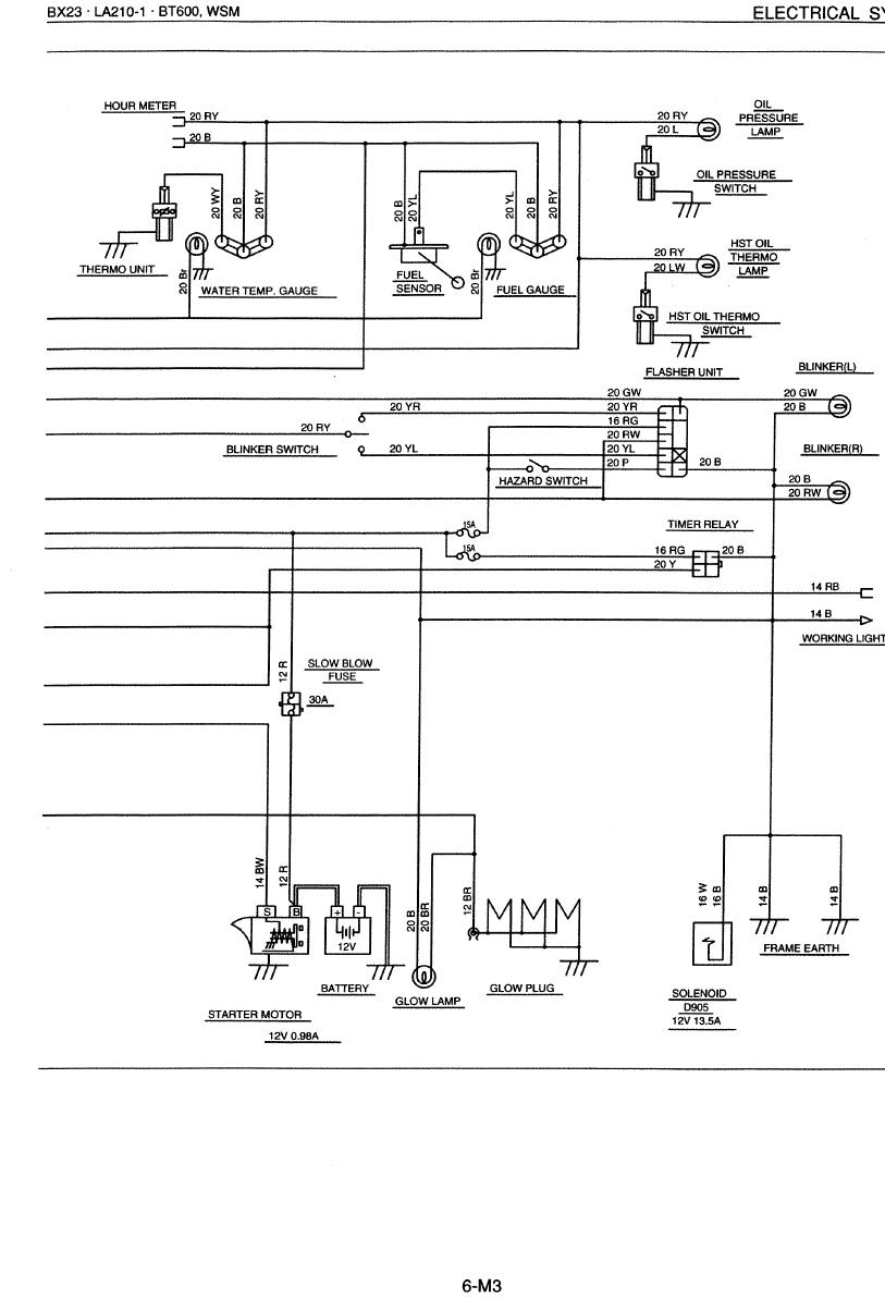 Wireing dynamo mytractorforum the friendliest tractor forum click image for larger version name bx23 electrical 2g views 1181 size swarovskicordoba Gallery