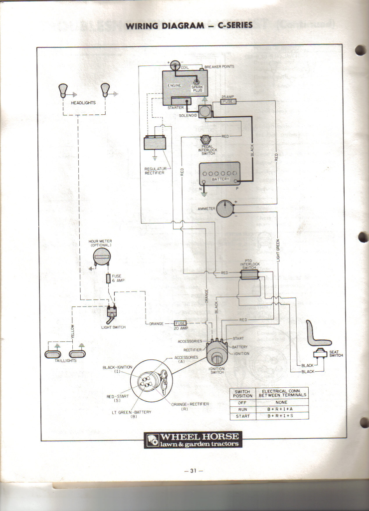 older wheelhorse c-85 would anyone have a wiring diagram ..i have, Wiring diagram