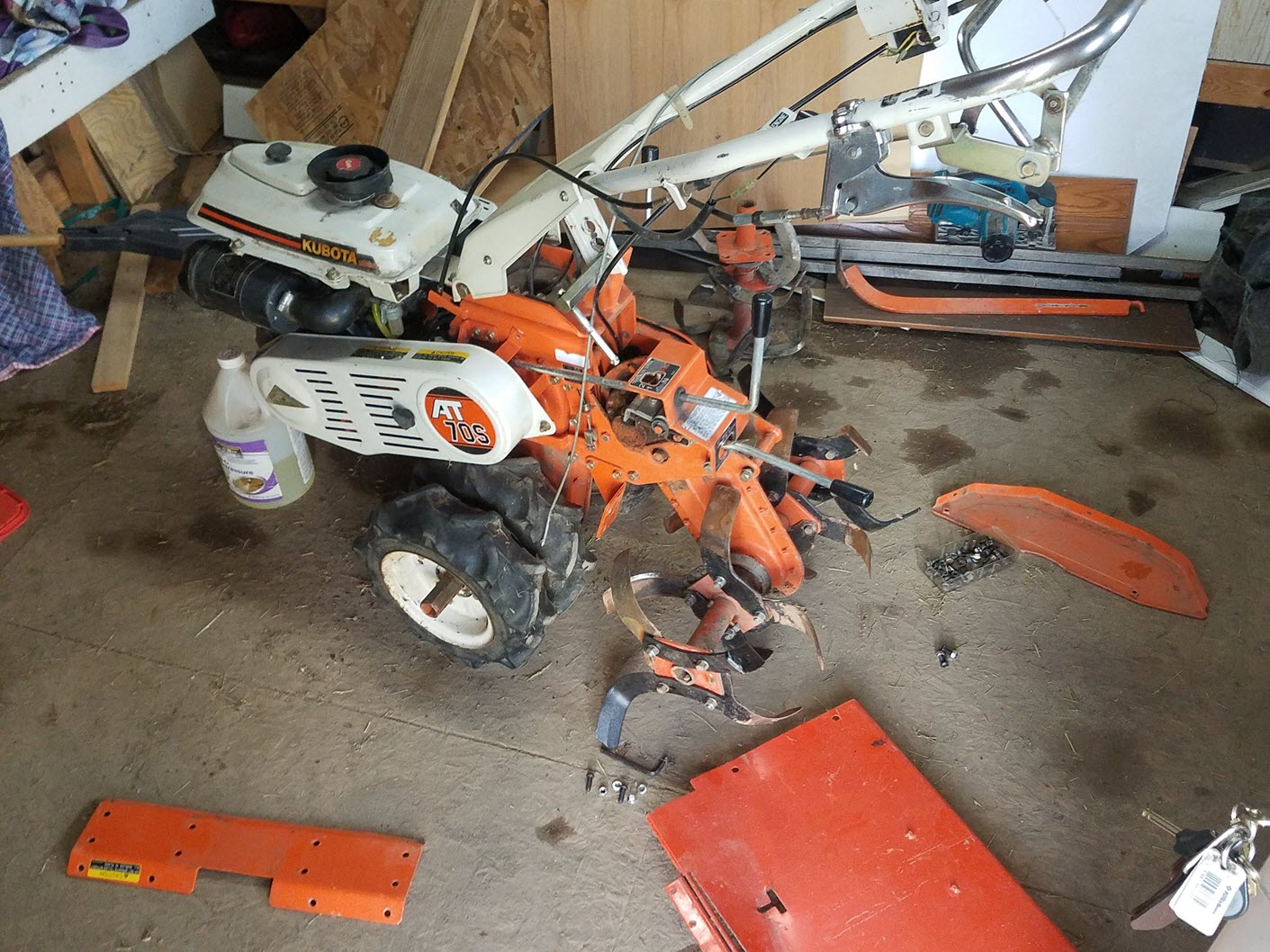 Kubota AT70S-E 7 0hp engine for parts, GS280-TE