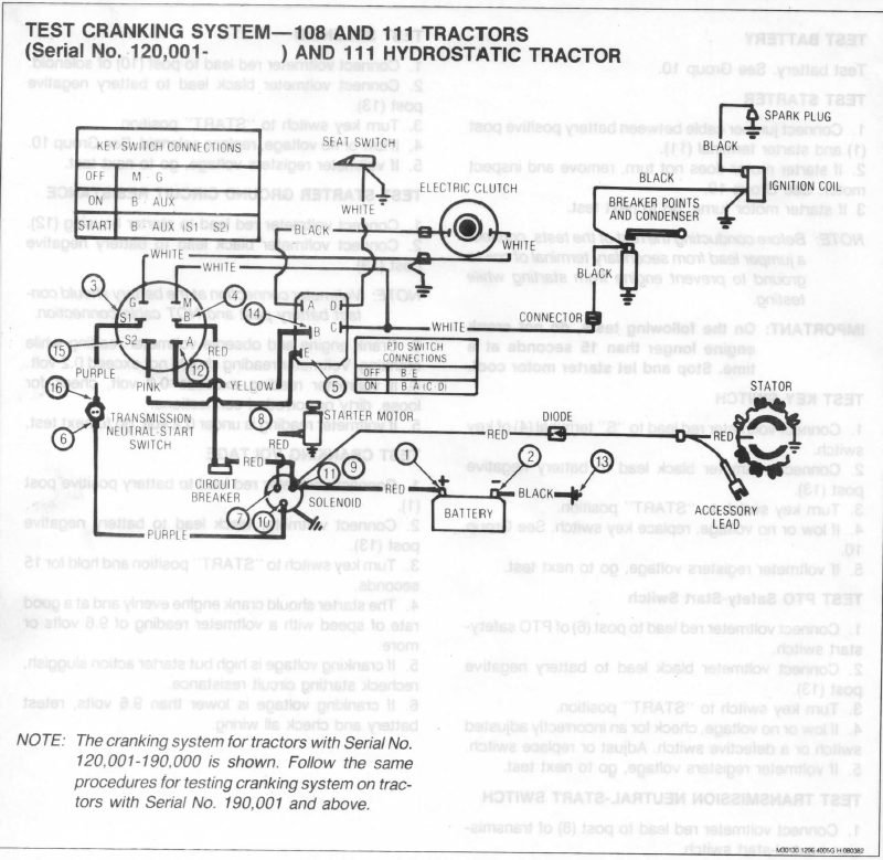 John Deere 111 - PTO Does Not Ene | My Tractor Forum on jd lt155 wiring-diagram, jd lx188 wiring-diagram, jd 265 lawn tractor diagram,
