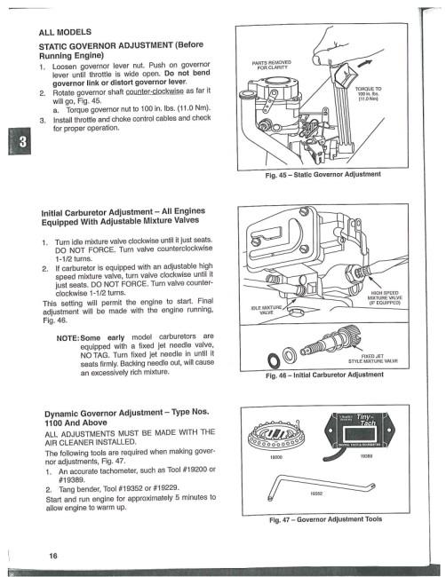 Kohler Engine Governor Adjustment