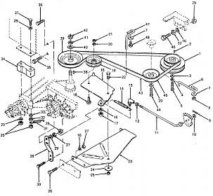 cub cadet 108 parts diagram