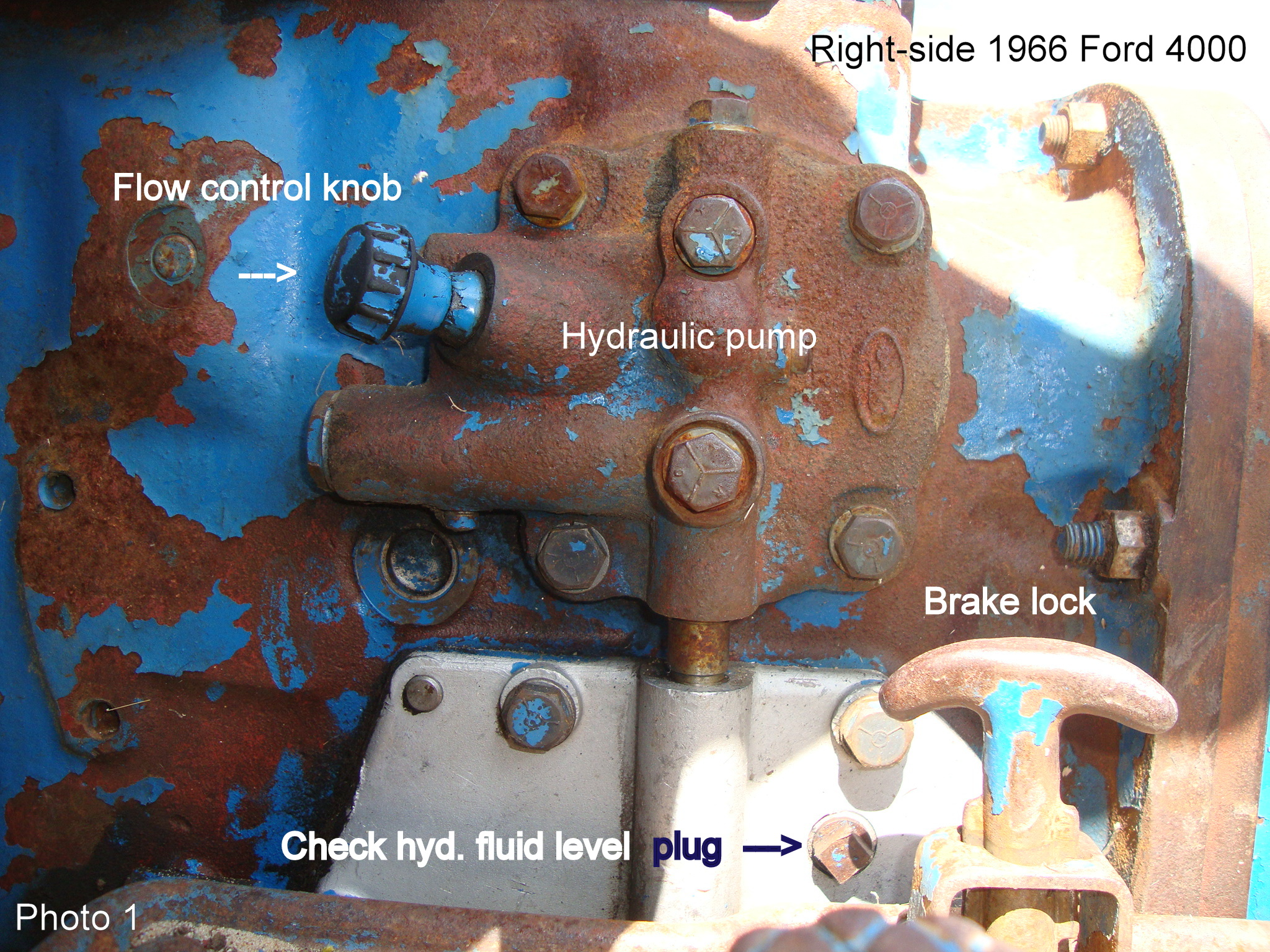 Need Help With Servicing 1966 Ford 4000 Hydraulic System