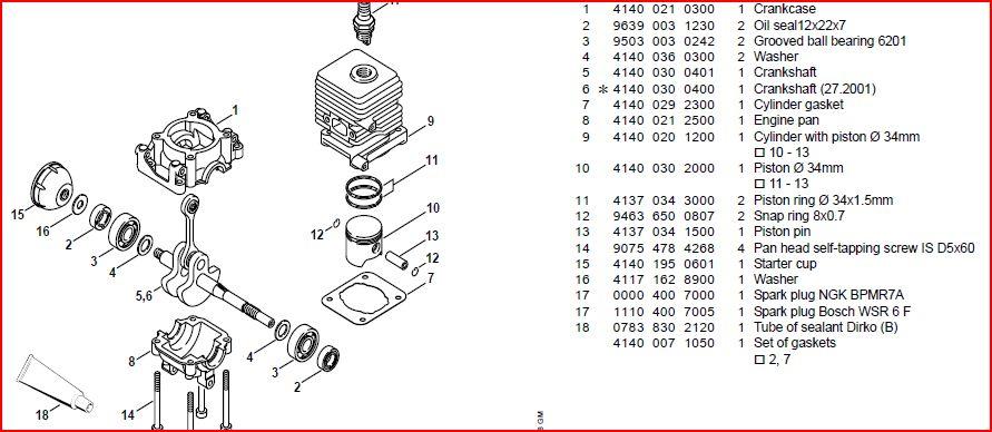 Repair manual for Stihl Fs55