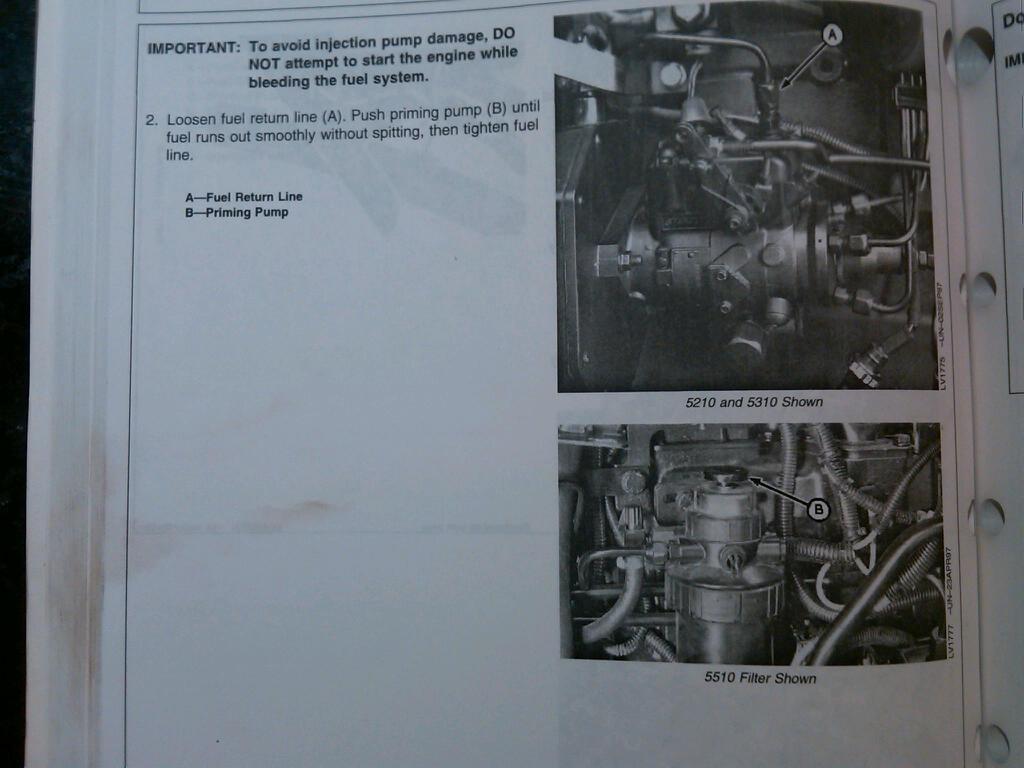 Ran low on fuel  How to bleed fuel line? - MyTractorForum