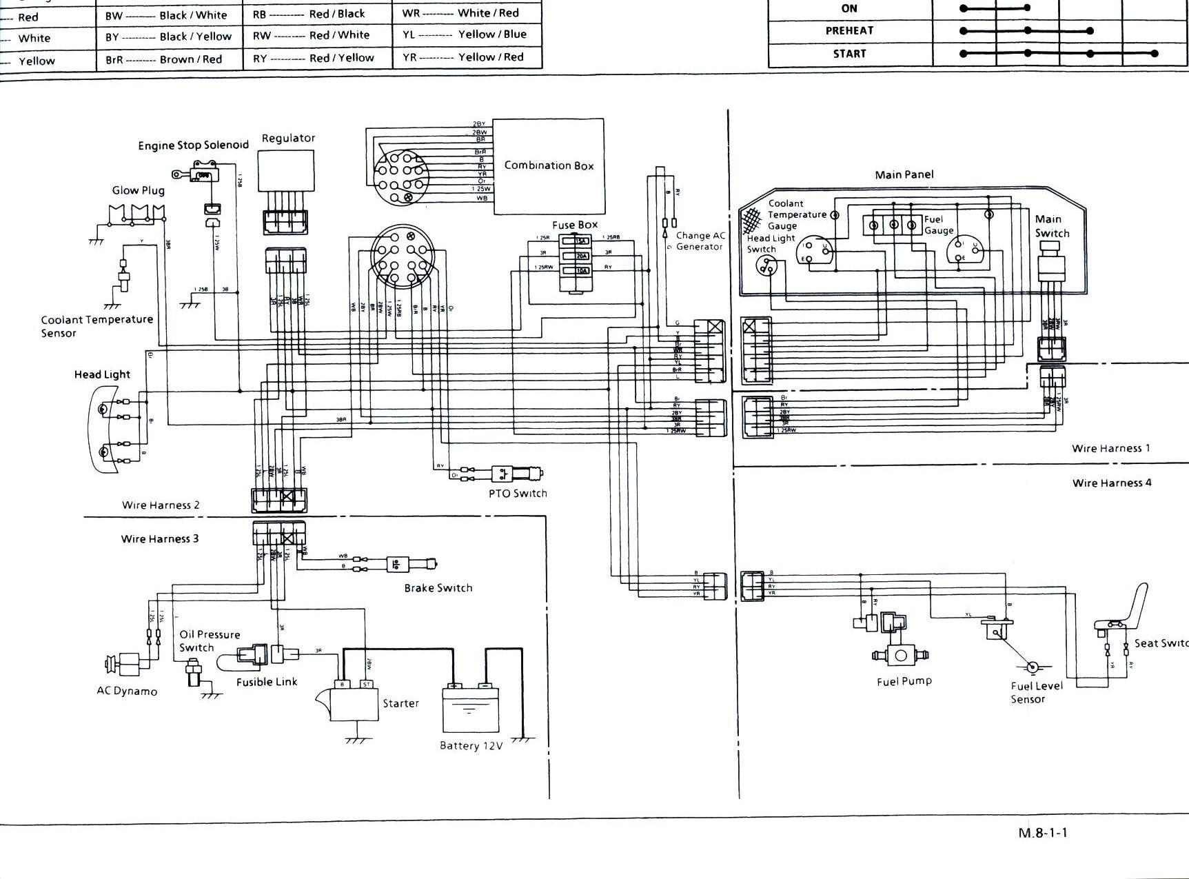 Kubota Electrical Wiring Diagram E Generator Rtv Plow Image Radio On