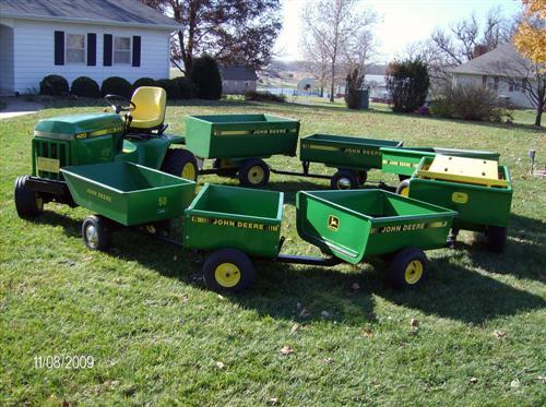 click image for larger version name garden tractors 665 customjpg views - Garden Tractor Trailer