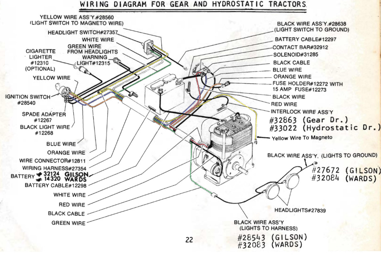 Wards Gilson Garden Tractor - Garden Ftempo