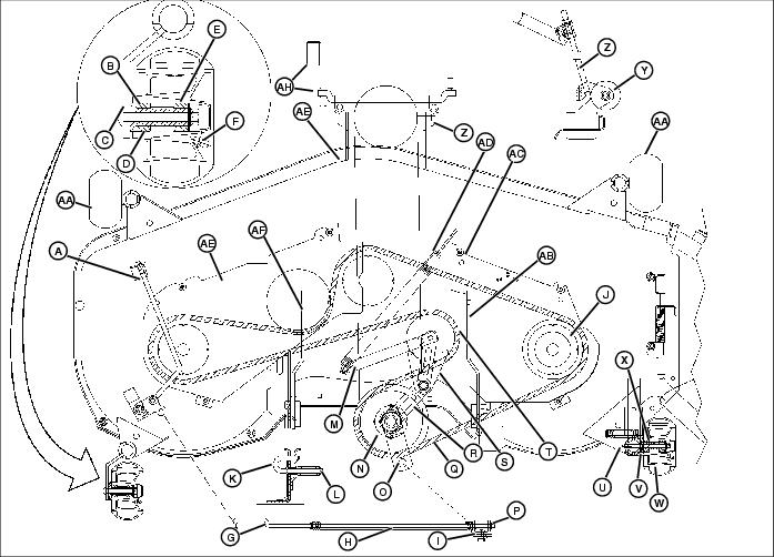 John Deere Lt166 Wiring Diagram together with T14396779 John deere stx 30 wiring harness further John Deere Lt133 Wiring Harness likewise John Deere Lt133 Mower Deck Parts Diagram as well John Deere L120 Engine Parts Diagram. on john deere lt155 wiring diagram