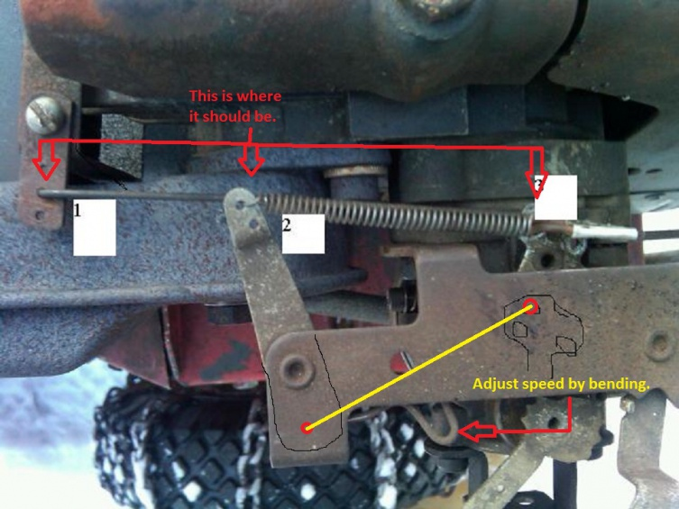 Linkage diagram throttle tecumseh Tecumseh Carburetor