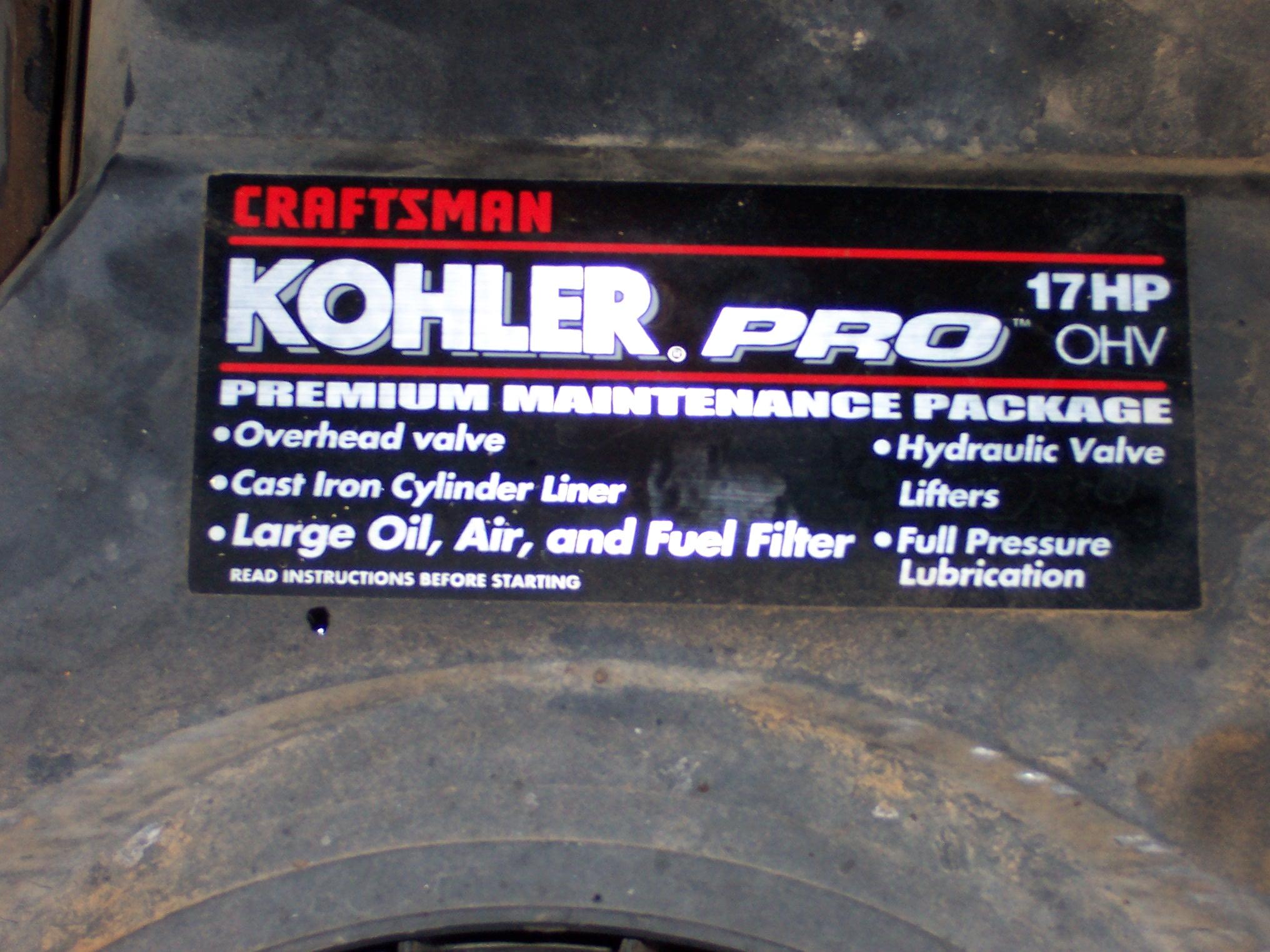 Craigslist LT2000, Blown Kohler - MyTractorForum com - The