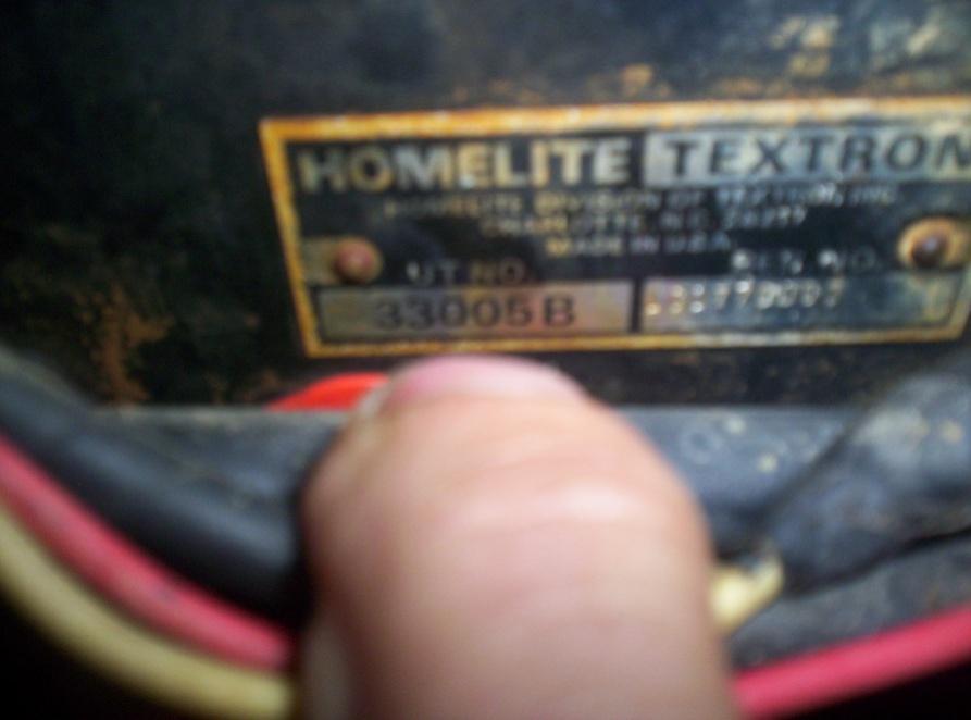 homelite/jacobson 11hp Gt model#330058 info needed
