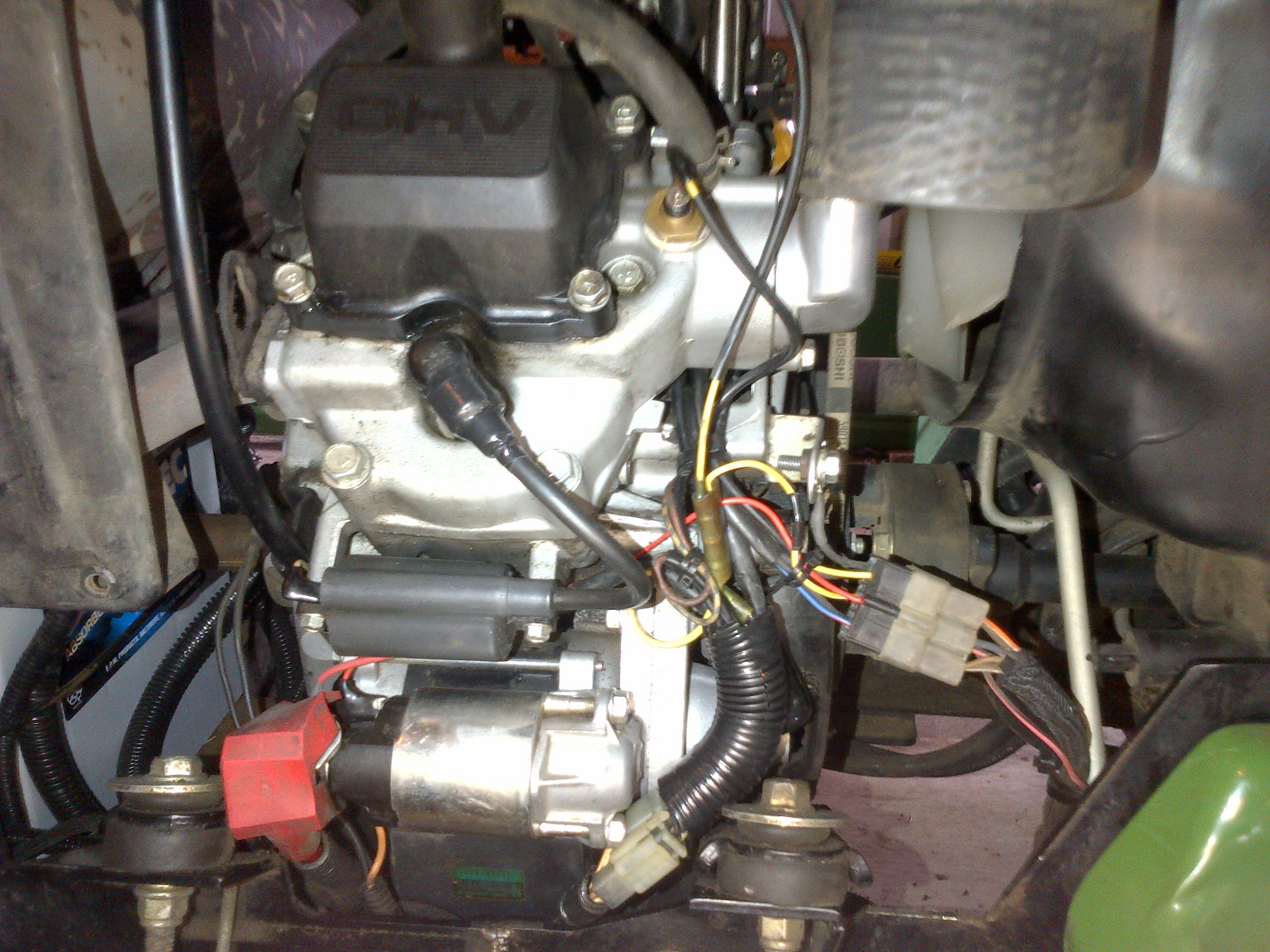 Jd 425 garden tractor page 2 mytractorforum the click image for larger version name igniter under starter and all wires wrappedg sciox Images