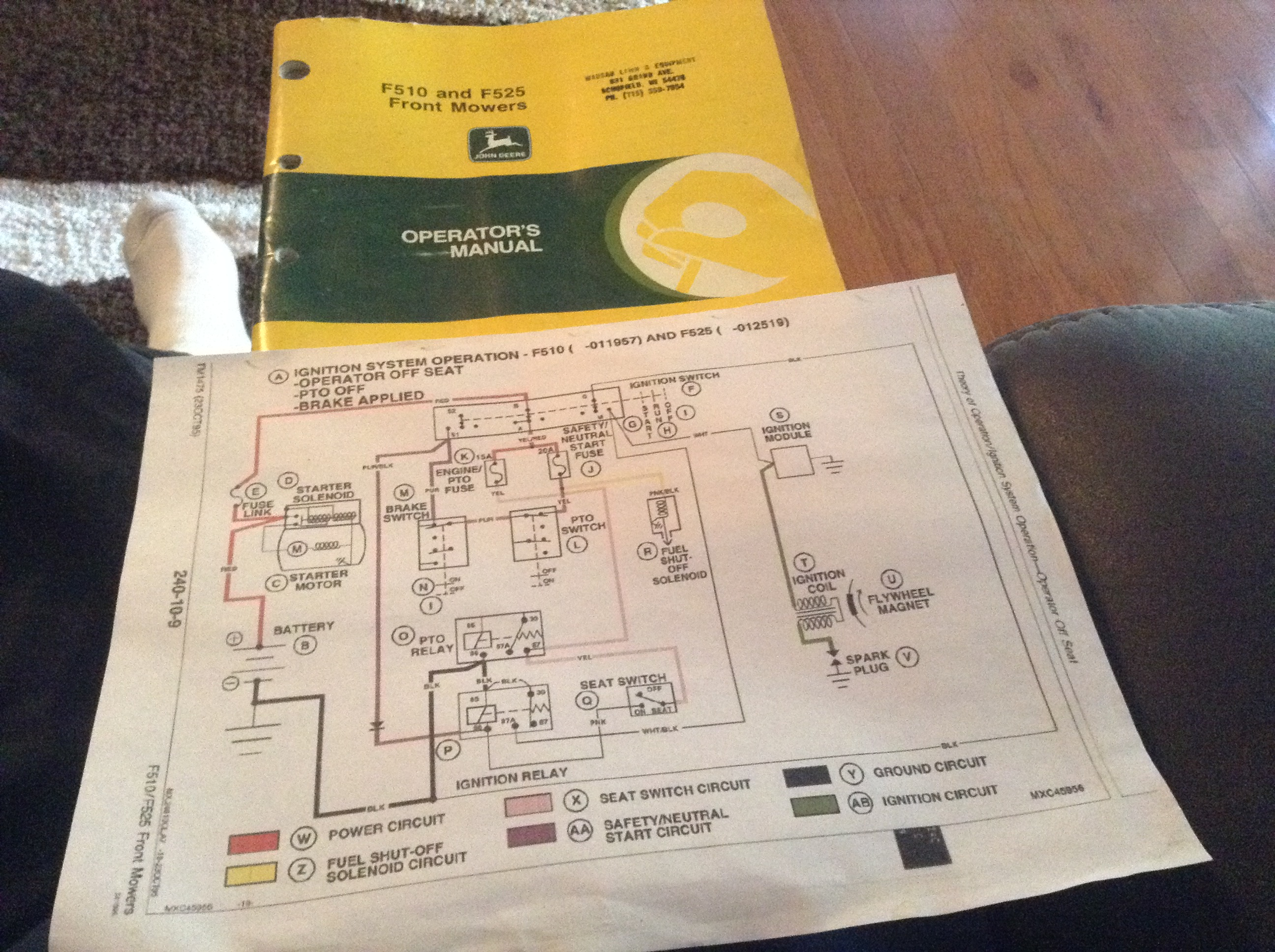 John Deere F525 No Spark Page 2 The Wiring Diagram Click Image For Larger Version Name Imagejpeg Views 409 Size 131