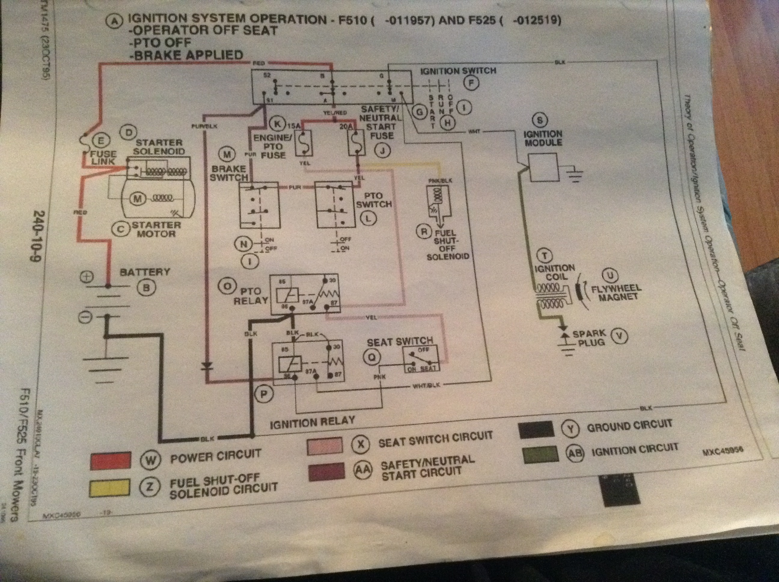 [QNCB_7524]  John Deere F525 NO SPARK | Page 2 | My Tractor Forum | Wiring Diagram John Deere F510 |  | My Tractor Forum