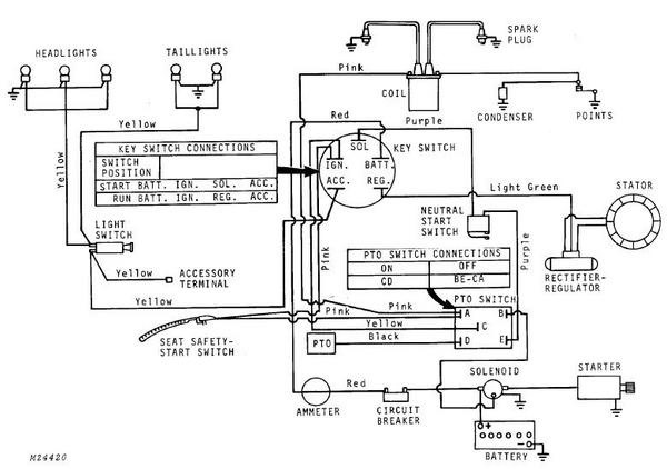 JD 318 Ignition switch and wiring | My Tractor ForumMy Tractor Forum