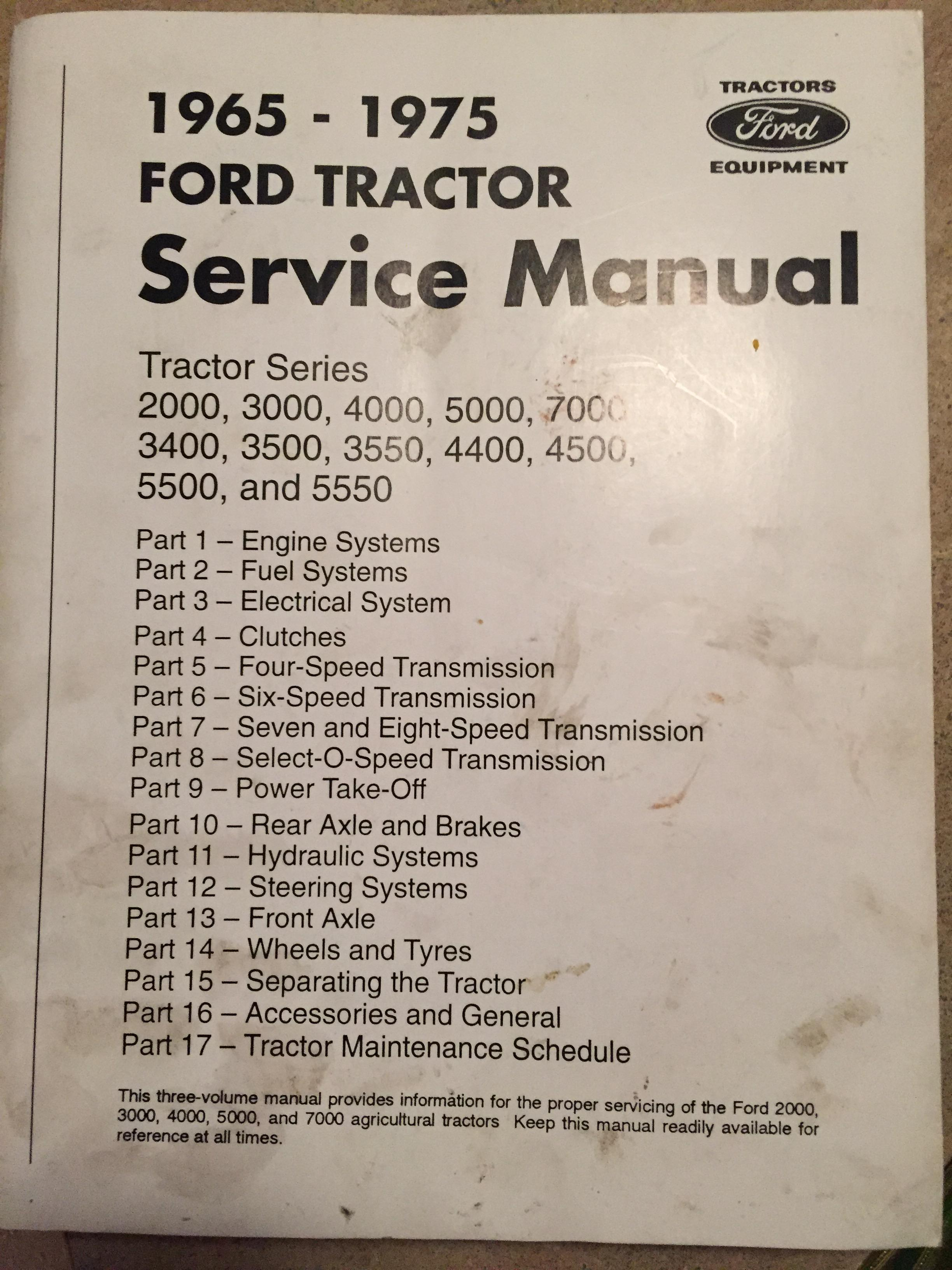 1963 ford 2000 tractor service manual